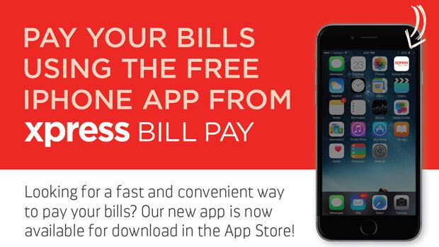 Pay your bills using the free iPhone app from XPress Bill Pay