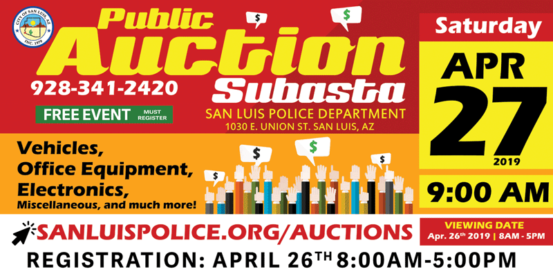public auction April 27, 2019
