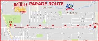 light parade map
